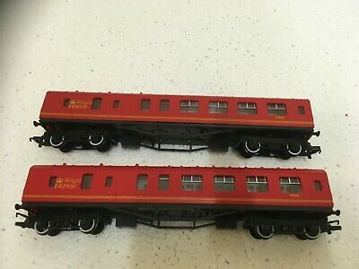 £29 • Buy Lot..888..OO GAUGE HORNBY ROYAL MAIL RED COACHES..X..2......................#20#