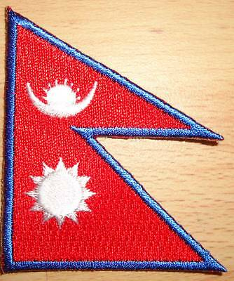 NEPAL Country Flag Embroidered PATCH • 2.75£