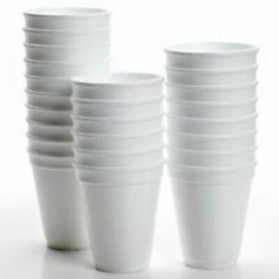 100 X 10oz 280ml DART POLYSTYRENE FOAM CUPS ONLY • 8.99£