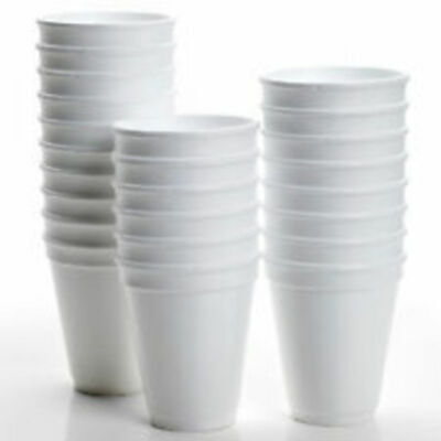 GSL 100 X 16oz 500ml DART LARGE POLYSTYRENE CUPS ONLY - QUALITY BRAND • 13.98£