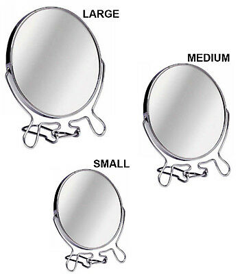 £8.99 • Buy Double Sided Cosmetic Shaving Bathroom Mirror Chrome Vanity Magnifying Make Up