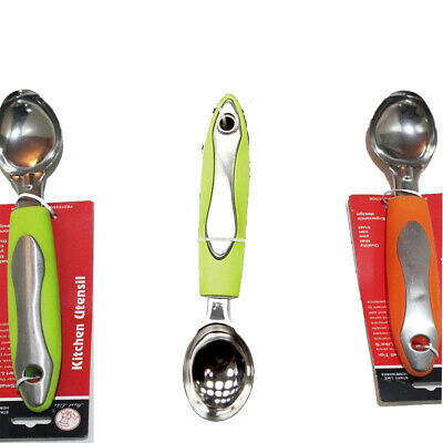 Professional Stainless Steel Ice Cream Scoop Colourful Handle Random Colour Gift • 2.99£