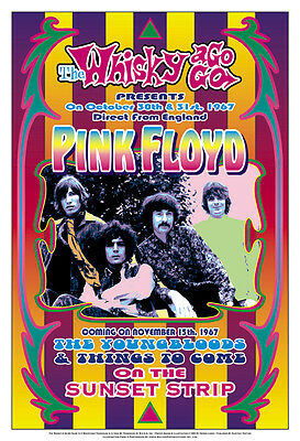 $12 • Buy Pink Floyd At The  Whisky A Go Go Concert Poster 1967  13 3/4 X 19 3/4