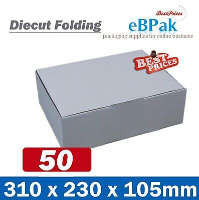 AU42.50 • Buy 50x Mailing Box 310x220x102mm Diecut Carton 310x230x105mm A4 B2 BX2 Size