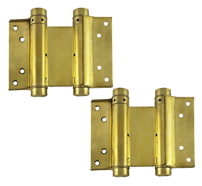 Double Action Hinges Swing Spring Swinging Door Gate Saloon Hinge Brass Sprung • 28.95£