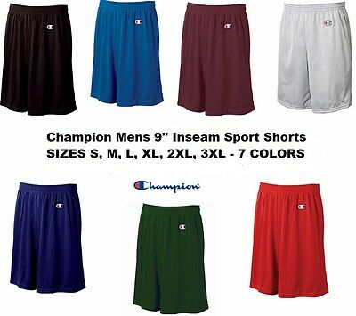 $12.95 • Buy Champion Mens NEW Size S-3XL Athletic Poly Mesh Gym 9  Inseam Basketball Shorts