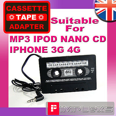 £3.25 • Buy Car Cassette Tape Adapter For  Iphone 3gs/4g Mp3 Ipod Nano Cd Creative Cassete