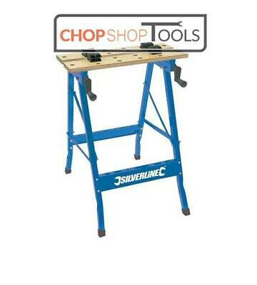 £20.99 • Buy DIY Work Top Bench Table Portable Folding Workbench Workmate With Clamping Vice
