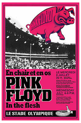 $12 • Buy Pink Floyd At  The Montreal Olympic Stadium Concert Poster 1977