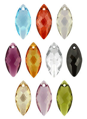 Genuine SWAROVSKI 6110 Navette Crystals Pendants * Many Sizes & Colors • 5.54£