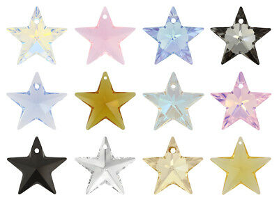 Genuine SWAROVSKI 6714 Star Crystals Pendants * Many Colors & Sizes • 11.72£