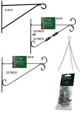 £4.95 • Buy Hanging Wall Mount Bracket For Basket Garden Plant Topiary 10  12  15  Or Chain