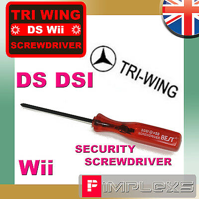 TRI WING SCREWDRIVER REPAIR OPEN DS LITE WII DSi TOOL TRIWING TRIGRAM • 1.39£