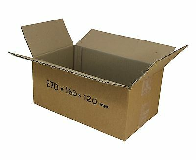 AU52 • Buy 100 270x160x120mm 3kg Satchels Mailing Boxes Shipping Cartons Cardboard Boxes