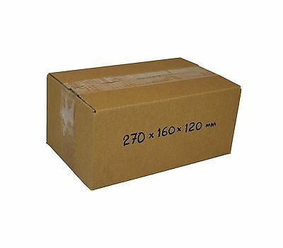 AU26 • Buy 50 270x160x120mm 3kg Satchels Mailing Boxes Shipping Cartons Cardboard Boxes