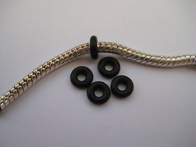 £1.99 • Buy Black Rubber Stoppers For Clip Beads On European Bracelets (and Other Uses)