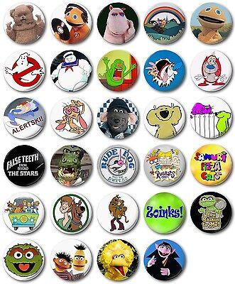 £0.99 • Buy Kids Retro TV Various 25mm, 1  Button Badge, R To S, Rainbow, Scooby, Roland Rat