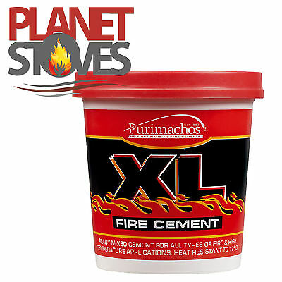 1kg - Ready Mixed Fire Cement For Flue Pipe Seals Wood Burning Stove & Furnace  • 7.20£