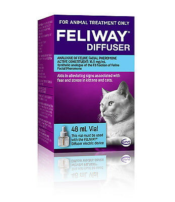 AU39.77 • Buy Feliway 48mL Diffuser Refill - Constant Calming And Comfort For Cats