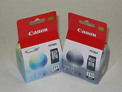 £44 • Buy Genuine Canon PG-210 CL211 Ink IP2700 IP2702 MP240 MP250 MP270 MP280 MP480 MP490