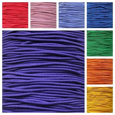 $ CDN3.87 • Buy 1mm Round Elastic Cord X 2, 5 Or 10 Metres Bracelet, Hat Huge Choice Of Colours