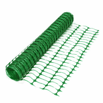 £30.99 • Buy Green Barrier Fence Plastic Mesh Netting Crowd Safety Event Garden DIY 1m X 50m