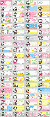 AU4.59 • Buy 64 Mini Hello Kitty Cat Personalised Name Labels Stickers Stationery Pen Pencil