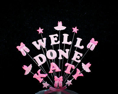 WELL DONE ....... TUTU AND BALLET Personalised Cake Topper, Homemade • 13.75£