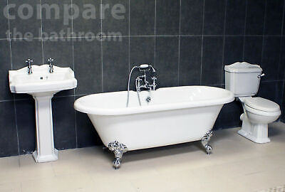 Traditional Bathroom Suite Carlton Edwardian Classic Freestanding Roll Top Bath • 549.99£