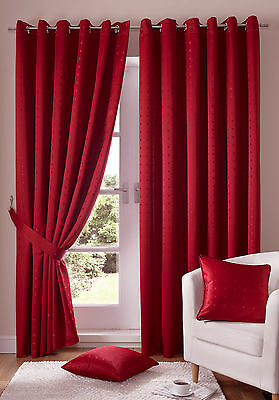 Madison Red Eyelet Ring Top Curtains & Tie Backs • 34.40£