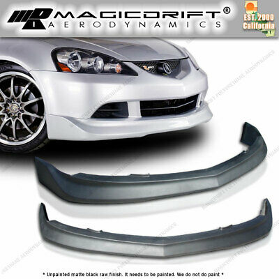 $135.88 • Buy For 05 06 ACURA RSX DC5 MUGN STYLE POLY URETHANE BLACK FRONT BUMPER LIP SPOILER