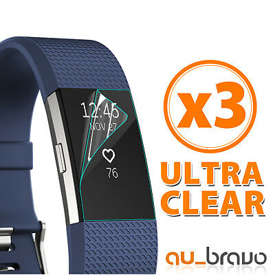 AU2.65 • Buy 3x Ultra Clear Front Screen Protector Films Guard Cover For Fitbit Charge 2