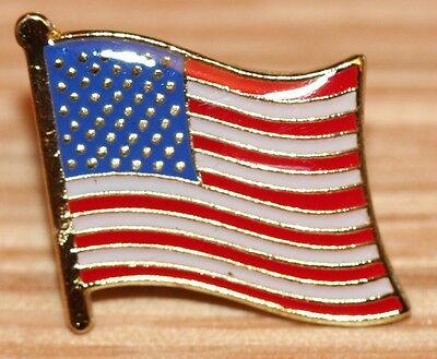 USA United States Of America US Country Metal Flag Lapel Pin Badge • 2.99£