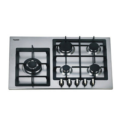 AU569 • Buy 75cm Gas Cooktop 5 Burners Built In For Kitchen