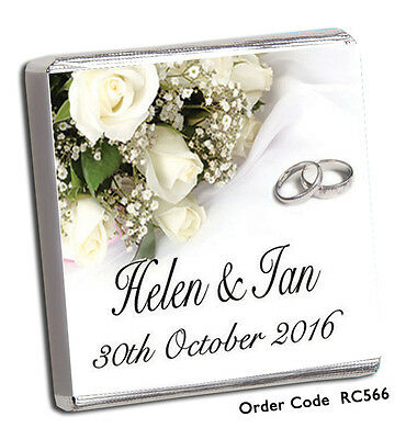 £17.98 • Buy 100 Personalised Chocolate Wedding Favours, Rush Orders Welcome!!  **FREE P+P**
