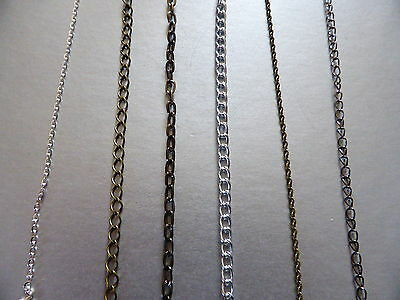 Choose Style, 1 Metre Length Chain In Silver Colour, Bronze,black Or Mixed(l31) • 2.50£