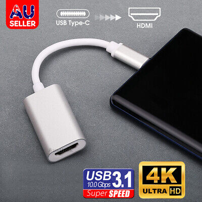 AU10.99 • Buy 4K UHD USB C Type C To HDMI Cable Adapter For Thunderbolt 3 Galaxy S10 S9 Note10