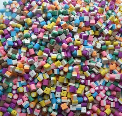 £5.99 • Buy 40 Rare Dolly Mixture Beads - Polymer Fimo Clay - Quick Shipment 8mm