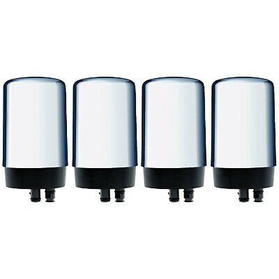 Brita 4-PACK On Tap REPLACEMENT WATER FILTERS CHROME Faucet OPFF-100 / SAFF-100 • 58£