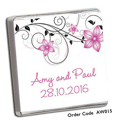 £11.99 • Buy 50 Personalised Chocolate Wedding/ Party Favours *Amazing Designs & Price* 2020