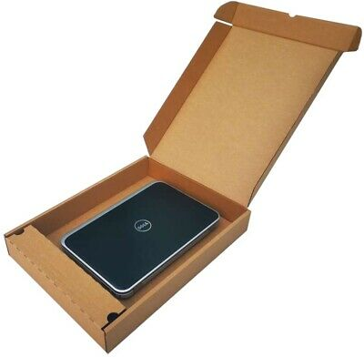LAPTOP SHIPPING BOX WITH CHARGER COMPARTMENT STRONG CARDBOARD MAILER 51x38x7cm • 8.75£