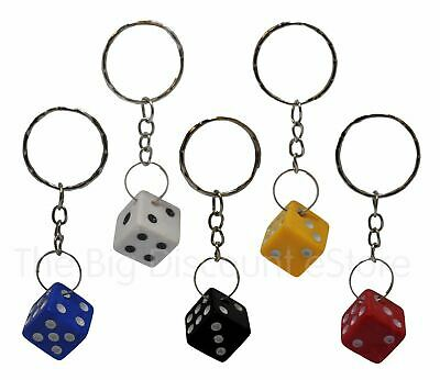Dice Keyring Colourful Novelty Die Keychain • 2.95£