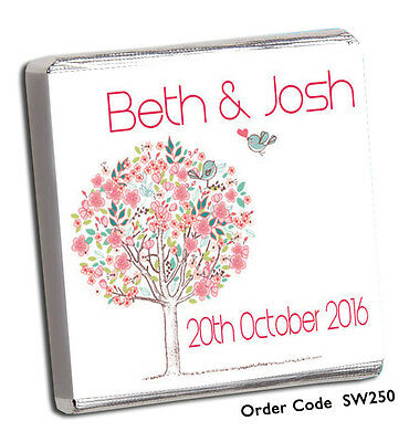 £11.99 • Buy 50 Personalised Chocolate Wedding Favours - Huge Selection Or Design Your Own !!