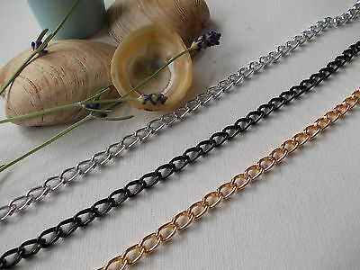 1 METRE LENGTH CHUNKY CHAIN, 9MM X 5MM CHOSE COLOR,SILVER Or GOLD, JEWELLERY  • 2.75£