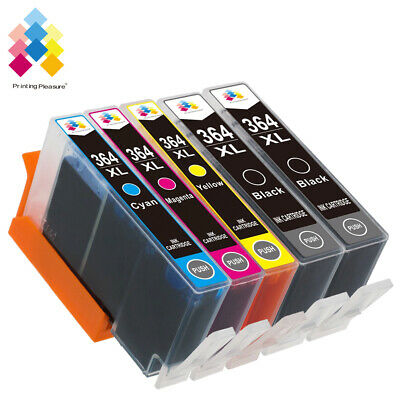 5 Ink Cartridge 364XL Fit For Photosmart 5520 5524 6510 6520 7510 PRINTER • 8.79£