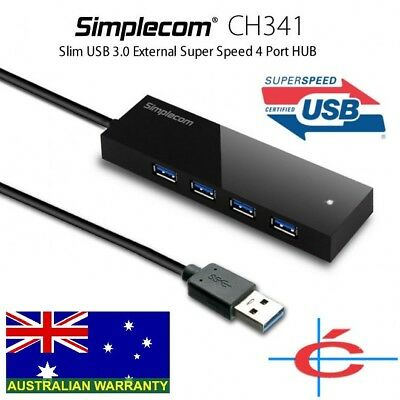 AU17.99 • Buy Simplecom CH341 USB 3.0 External 4 Port HUB Built-in 0.5M Cable For PC Laptop
