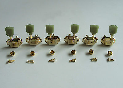 $ CDN23.99 • Buy Gold 3L3R Deluxe Tuning Pegs Keys Guitar Tuners Machine Heads Fits LP Epiphone