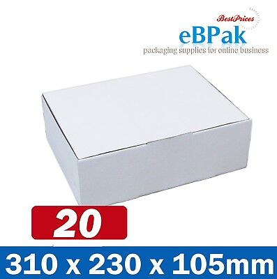 AU22.50 • Buy 20x Mailing Box 310x220x102mm Diecut Carton 310x230x105mm A4 BM BX2 Size