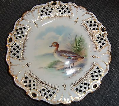Minton Cabinet Plate Hand Painted & Signed J Hodgkiss Circa Late 19th Century • 130£