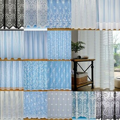 Net Curtain Voiles Super Value Choice Of Designs ~Quality Nets Sold By The Metre • 2.95£